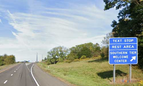ny interstate 81 i81 new york southern tier welcome center northbound mile marker 2
