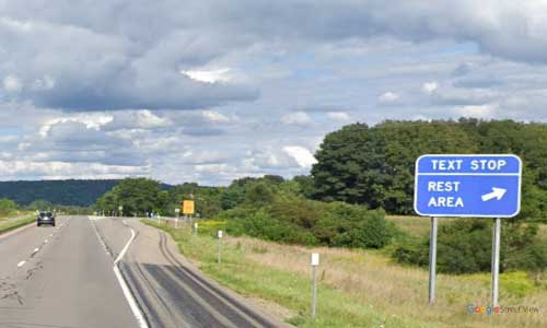 ny interstate 86 i86 new york friendship rest area eastbound mile marker 101
