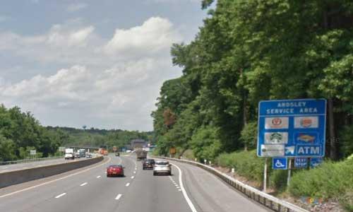 ny interstate 87 i87 new york thruway-ardsley service plaza northbound mile marker 6