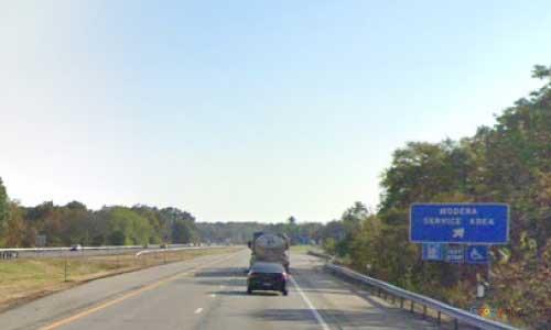 ny interstate 87 i87 new york thruway moderna service plaza southbound mile marker 66
