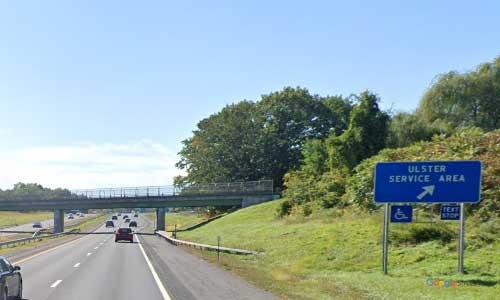 ny interstate 87 i87 new york thruway ulster service plaza southbound mile marker 96