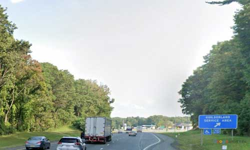ny interstate 90 i90 new york thruway guilderland service plaza eastbound mile marker 153