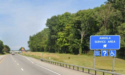 ny interstate 90 i90 new york thurway angola service plaza eastbound mile marker 447