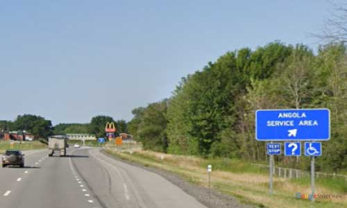 ny interstate 90 i90 new york thurway angola service plaza westbound mile marker 447