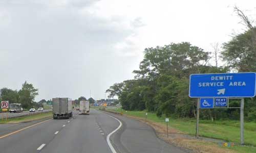 ny interstate 90 i90 new york thurway dewitt service plaza eastbound mile marker 280