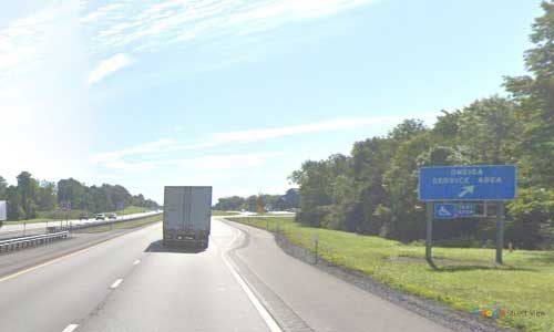 ny interstate 90 i90 new york thurway oneida service plaza eastbound mile marker 244