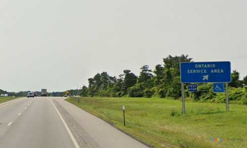 ny interstate 90 i90 new york thurway ontario service plaza westbound mile marker 376