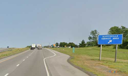 ny interstate 90 i90 new york thurway scottsville service plaza eastbound mile marker 366