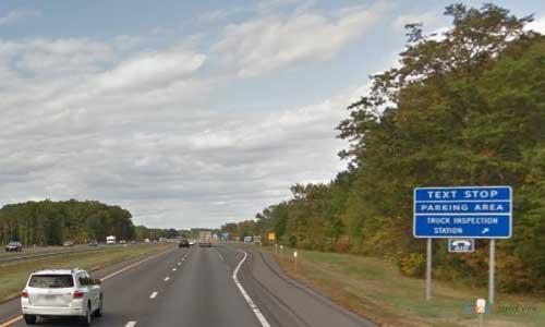 ny interstate87 i87 new york thruway parking rest area northbound mile marker 99
