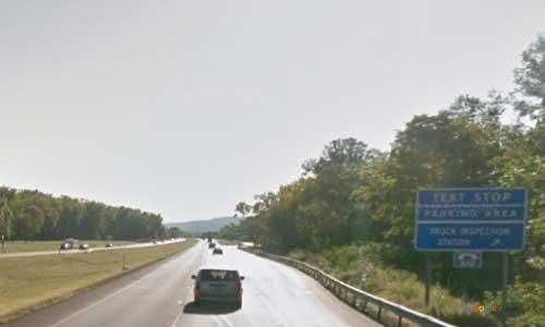 ny interstate 90 i90 new york thruway parking rest area westbound mile marker 184